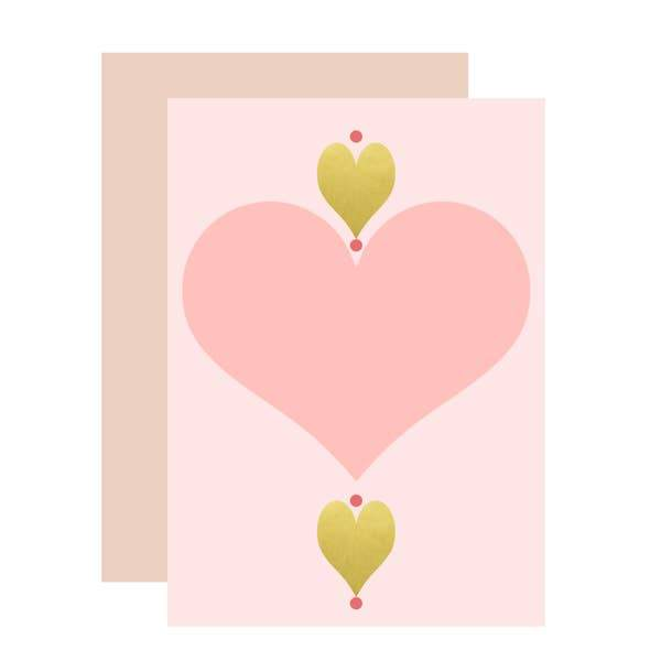 Hearts Card - Aims Moon Paperie
