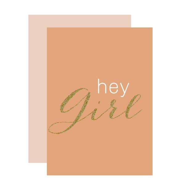 Hey Girl Card - Aims Moon Paperie