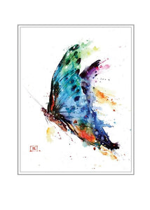 butterfly artist series blank card