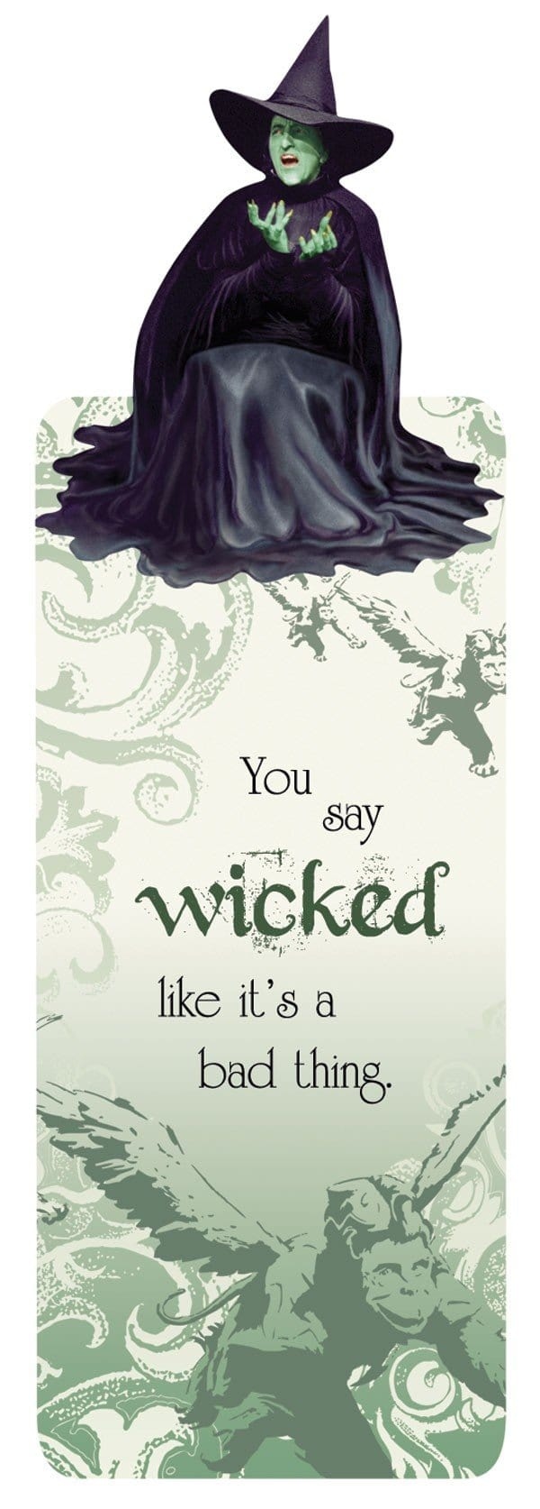 Wizard of Oz™ Wicked Witch Glitter Bookmark