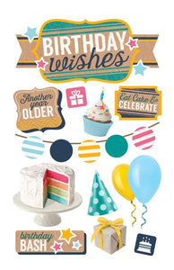 birthday wishes 3d sticker
