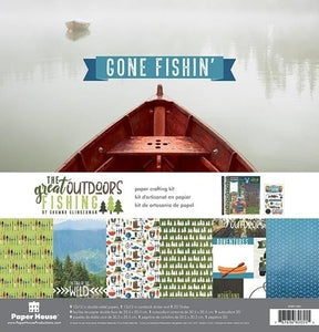 The Great Outdoors: Fishing Paper Crafting Kit