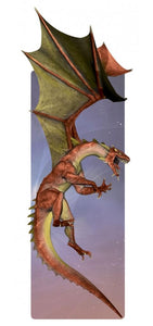 Red Dragon Glitter Bookmark