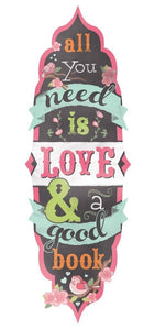 all you need is love glitter bookmark