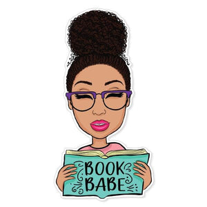 Book Babe Vinyl Sticker