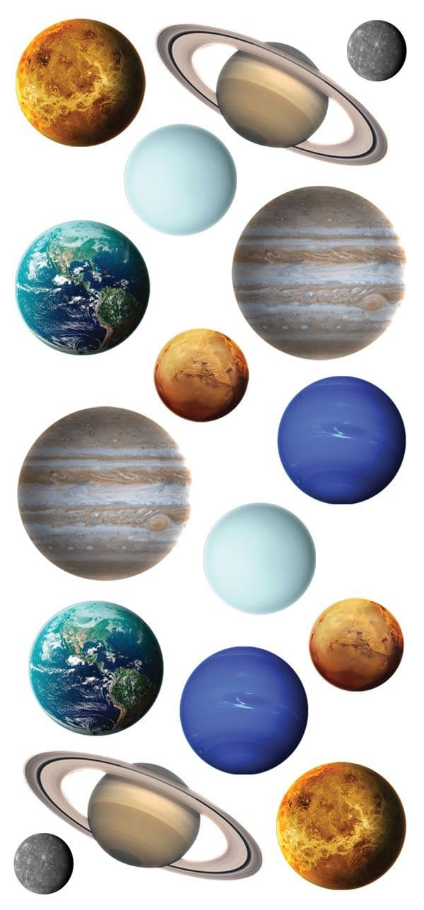 Planets Puffy Sticker