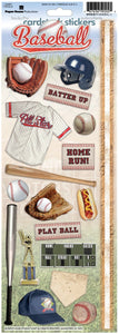baseball cardstock stickers