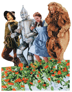 Wizard of Oz™ Poppy Fields Diecut Card