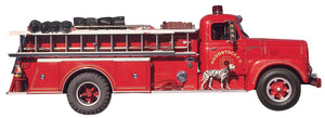 Fire Truck Diecut Card
