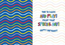 Load image into Gallery viewer, age 5 confetti shaker card