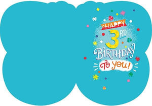 3rd Birthday Foil Card