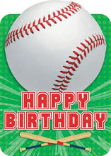 Load image into Gallery viewer, baseball birthday card