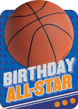 Load image into Gallery viewer, basketball birthday card
