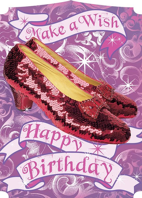 Wizard of Oz™-Ruby Slippers Glitter Card