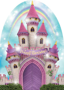 Princess Castle Glitter Card