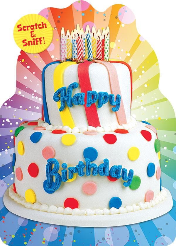Birthday Cake Scratch & Sniff Card