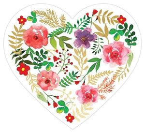 Floral Heart Diecut Card