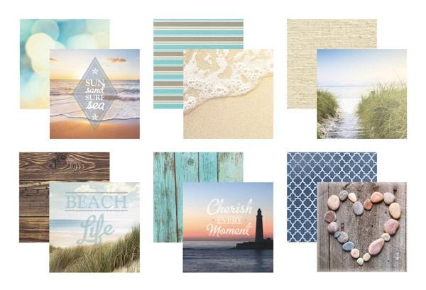 beach mixed card pack