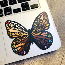 Load image into Gallery viewer, diversity butterfly vinyl sticker