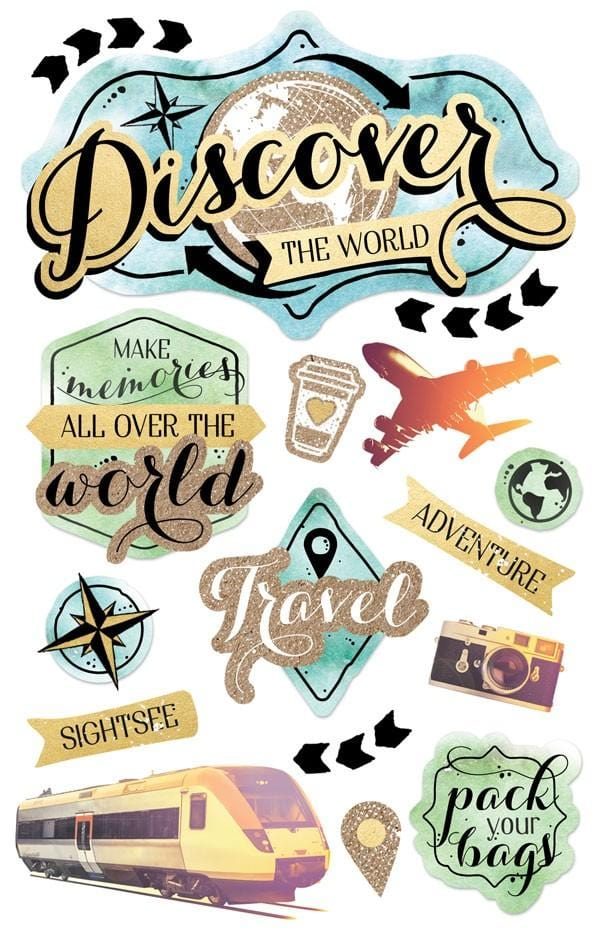 Discover the World  3D Sticker
