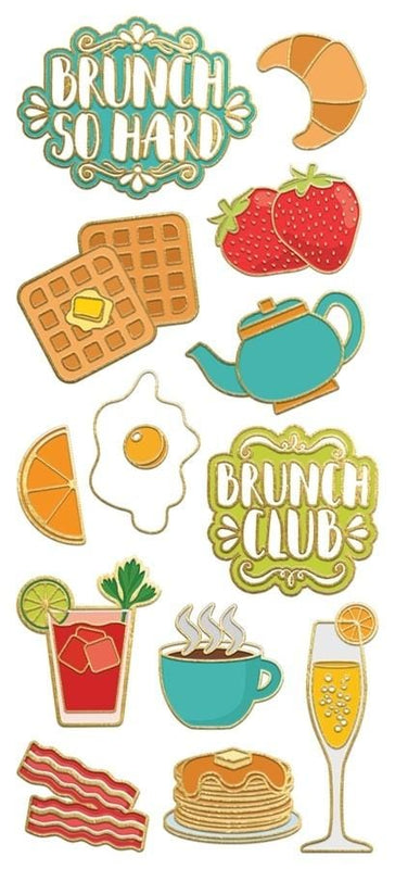 Brunch Faux Enamel Sticker