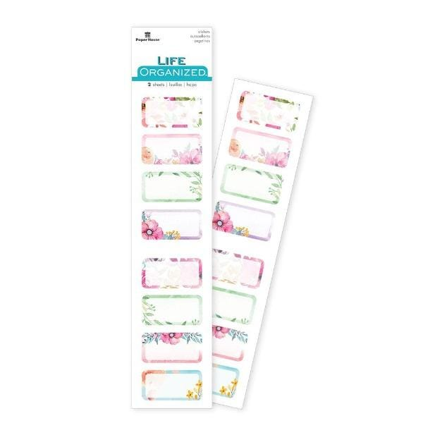 Floral Half Boxes Task Stickers