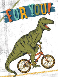 Dinosaur on Bike Gift Enclosure