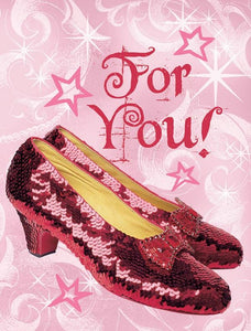 Wizard of Oz™- Ruby Slippers Glitter Mini Card