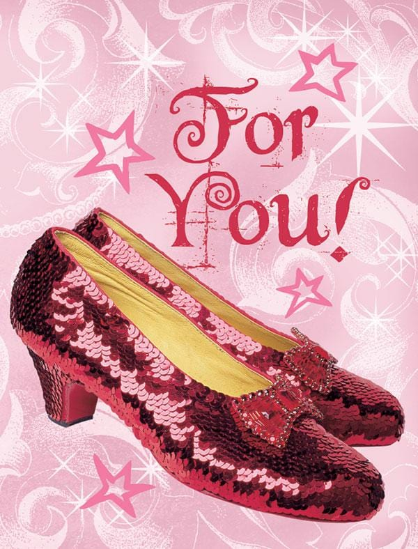 Wizard of Oz™- Ruby Slippers Glitter Gift Enclosure