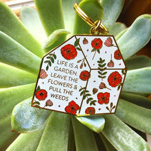 Load image into Gallery viewer, Greenhouse Enamel Keychain - Pineapple Sundays