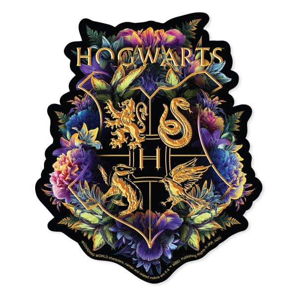 Harry Potter Howarts Crest - Watercolor Vinyl Sticker