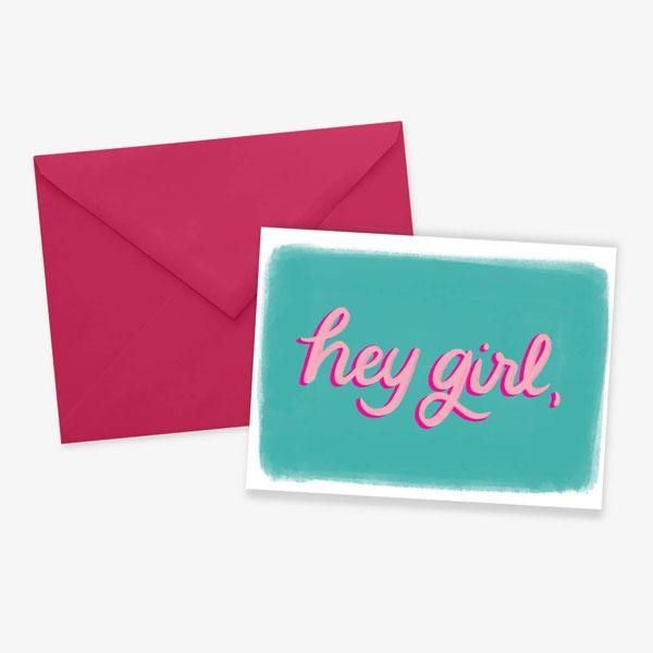 Hey Girl Card - Posterity Paper