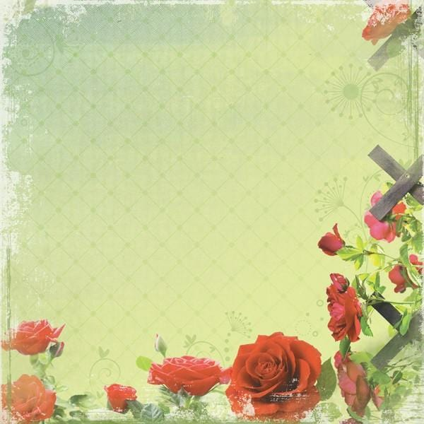 Rose Garden Single-Sided Paper