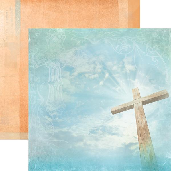 Heavenly Cross Double-Sided Paper