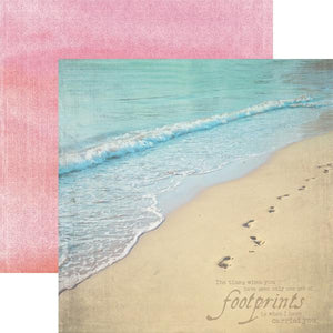 footprints double-sided paper