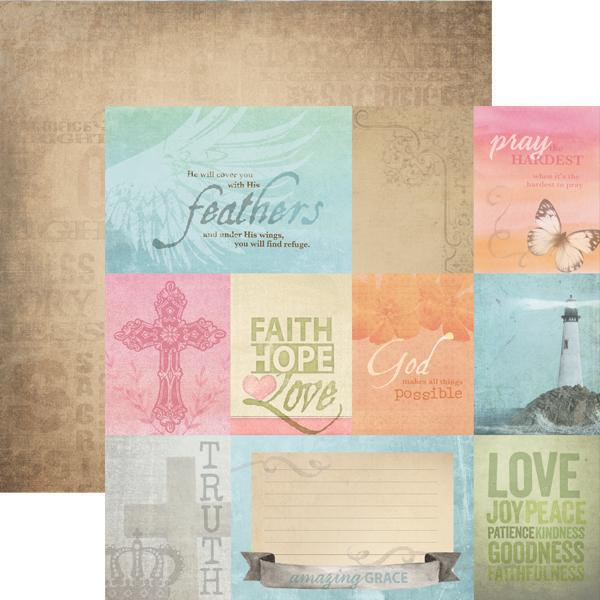 faith- tags double sided paper