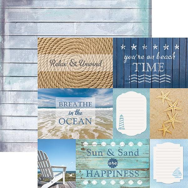 beach- tags double sided paper
