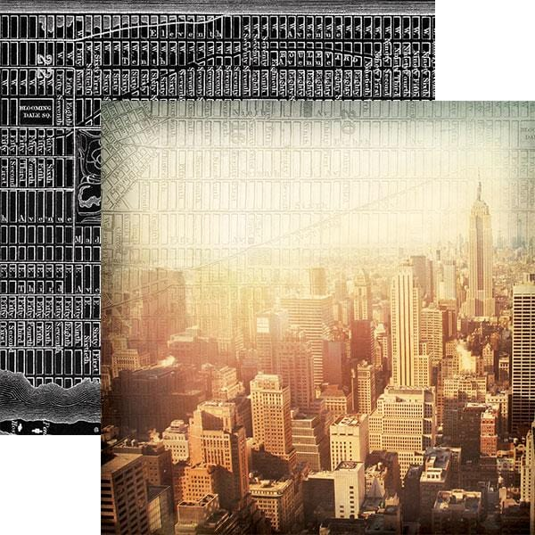 New York City Skyline Double-Sided Paper