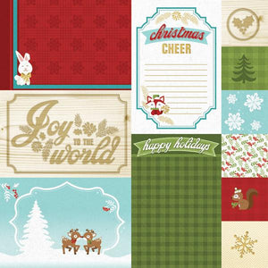 "christmas cheer tags 12"" double sided scrapbook paper"