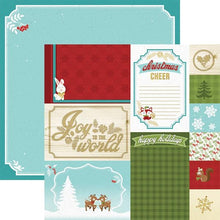 "Load image into Gallery viewer, christmas cheer tags 12"" double sided scrapbook paper"