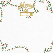 "Load image into Gallery viewer, Merry And Bright 12"" Double Sided Scrapbook Paper"