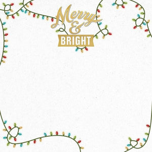 "Merry And Bright 12"" Double Sided Scrapbook Paper"