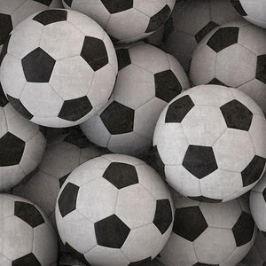 Soccer Balls Double-Sided Paper