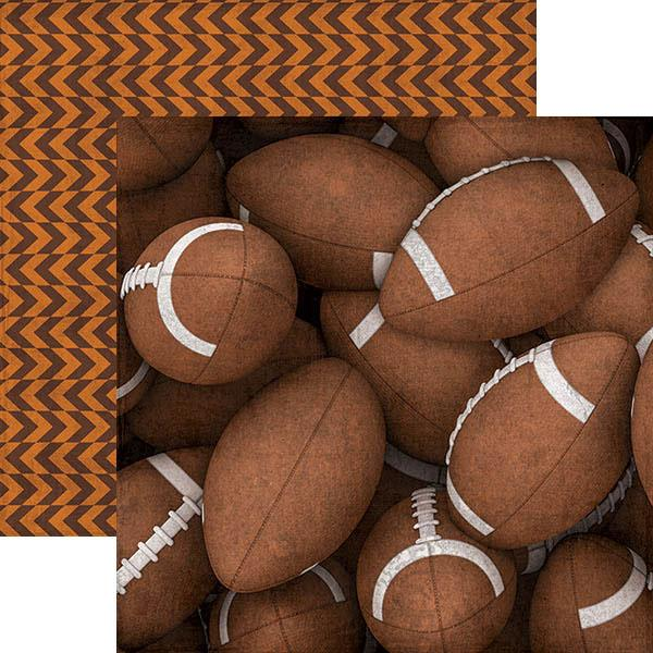 footballs double-sided paper