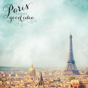 Paris Map Double-Sided Paper