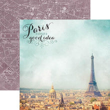Load image into Gallery viewer, Paris Map Double-Sided Paper