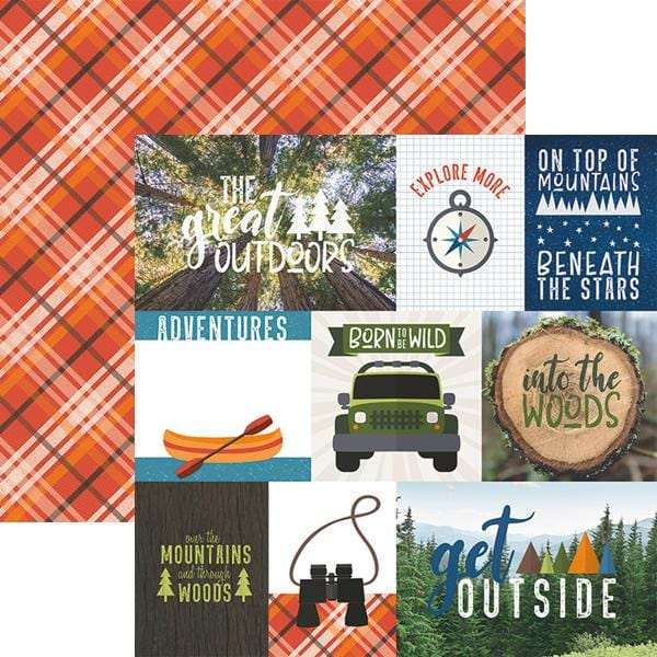 great outdoors tags double sided paper
