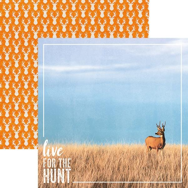 Live for the Hunt Double Sided Paper