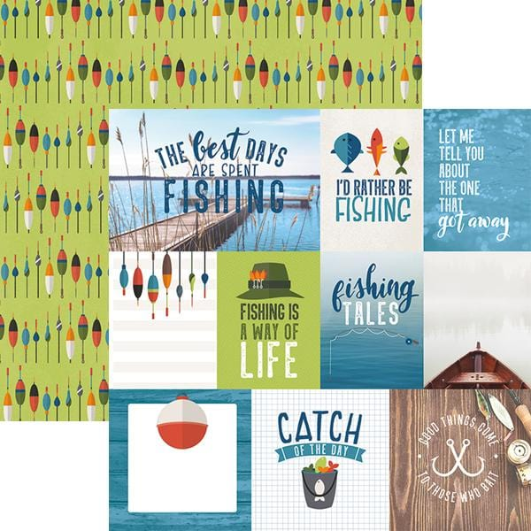 Fishing Tags Double Sided Paper