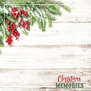 "christmas memories 12"" double sided scrapbook paper"